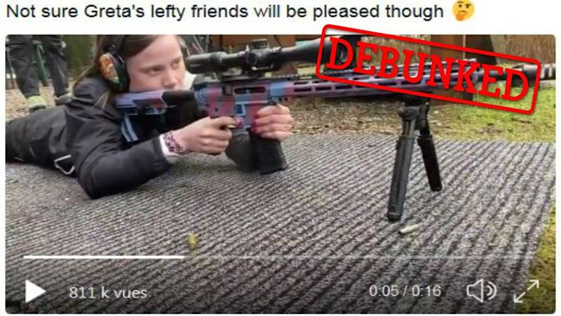 Debunked: This is not Greta Thunberg firing a rifle