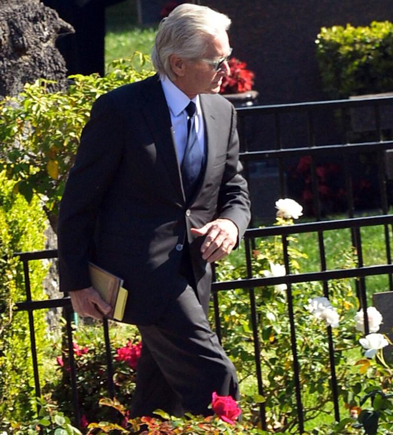Michael Douglas arriving at his father, Kirk's, funeral | London Entertainment / Splash