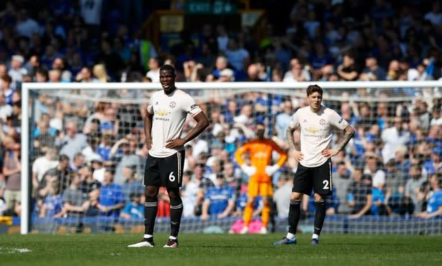 United endured a humbling afternoon at Goodison Park on Sunday (Martin Rickett/PA)