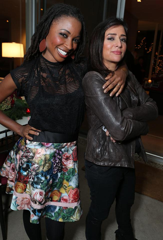 Shanola Hampton and Pamela Adlon at Showtime's 7th Annual Holiday Soiree on December 3, 2012 in Beverly Hills, California.