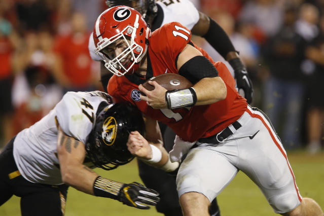 Will college football fans see Jake Fromm and the Bulldogs in the College Football Playoff this season? (AP)