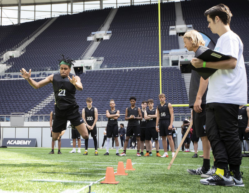 Young athletes being put through their paces (NFL/Sean Ryan)