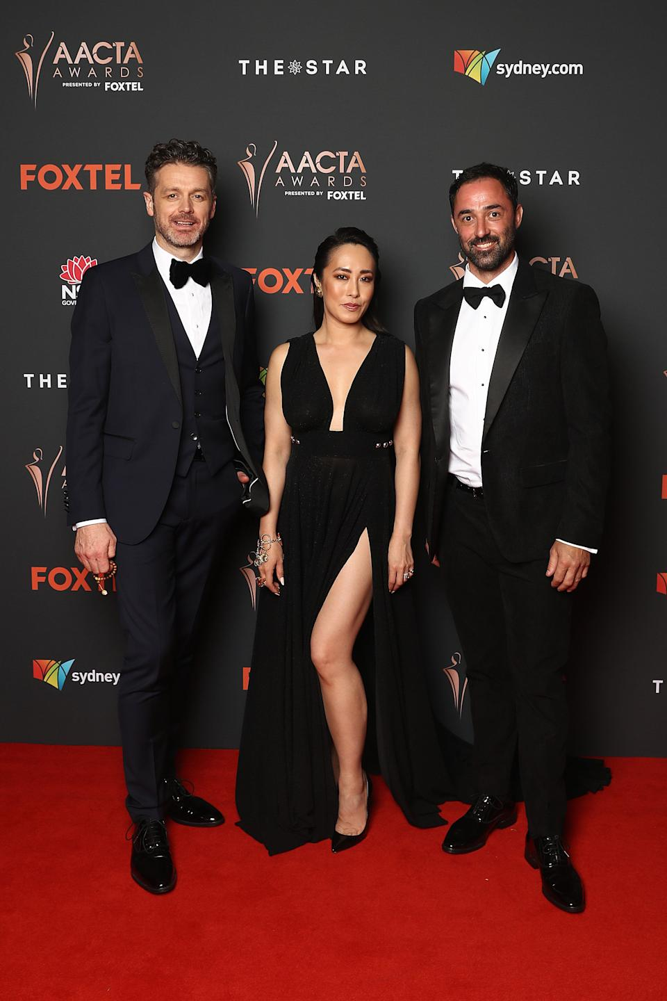 'MasterChef Australia' judges Jock Zonfrillo, Melissa Leong and Andy Allen have started filming the 2021 season. The trio pictured here at the 2020 AACTA Awards in Sydney on November 30.  (Photo: Brendon Thorne/Getty Images for AFI)