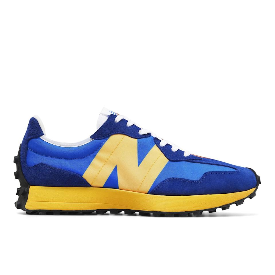 "<p><strong>New Balance</strong></p><p>newbalance.com</p><p><strong>$89.99</strong></p><p><a href=""https://go.redirectingat.com?id=74968X1596630&url=https%3A%2F%2Fwww.newbalance.com%2Fpd%2F327%2FMS327V1-31565.html&sref=https%3A%2F%2Fwww.menshealth.com%2Fstyle%2Fg34452213%2Fretro-sneakers-for-men%2F"" rel=""nofollow noopener"" target=""_blank"" data-ylk=""slk:Shop Now"" class=""link rapid-noclick-resp"">Shop Now</a></p><p>In the late '70s, New Balance came up with a running shoe that would become popular among New York City marathoners. These are a new version of those, with cool upgrades like a studded outsole for extra stability and traction.</p>"