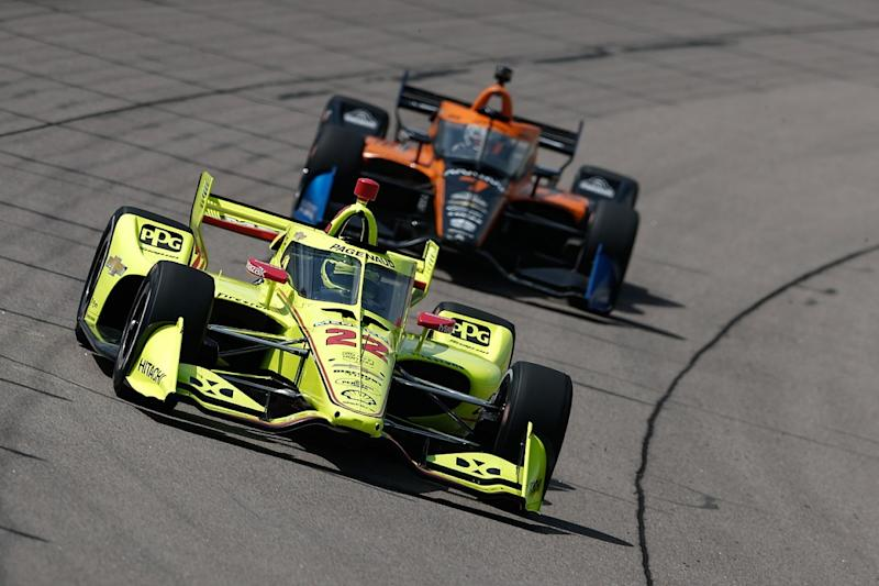 Pagenaud fights back from last to win at Iowa