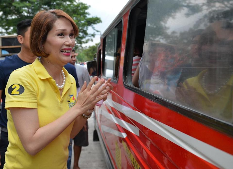 Geraldine Roman has become the first transgender politician to be win a congressional seat in the Philippines (AFP Photo/Ted Aljibe)