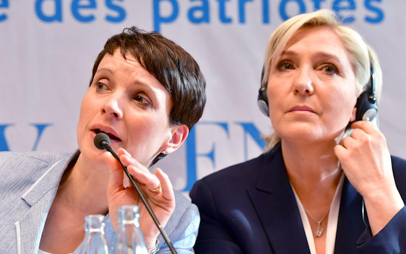 Frauke Petry (AfD) and Marine Le Pen - Credit: GETTY