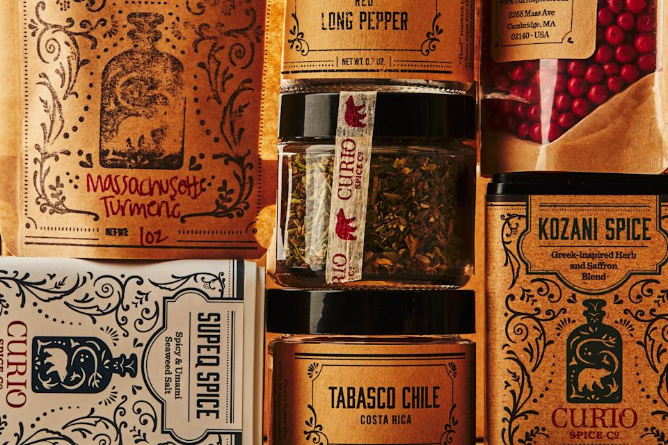 """<h1 class=""""title"""">Fair Trade Spices Curio INSET</h1> <div class=""""caption""""> <a href=""""http://www.curiospice.com/"""" rel=""""nofollow noopener"""" target=""""_blank"""" data-ylk=""""slk:Curio Spice Co"""" class=""""link rapid-noclick-resp"""">Curio Spice Co</a>, a shop in Cambridge, Massachusetts, offers ethically sourced spices and spice blends direct-to consumer and at their storefront. </div> <cite class=""""credit"""">Photo by Chelsea Kyle</cite>"""
