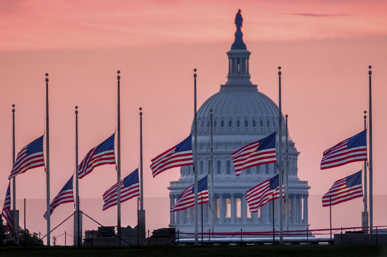 White House flags back at full staff after McCain's death