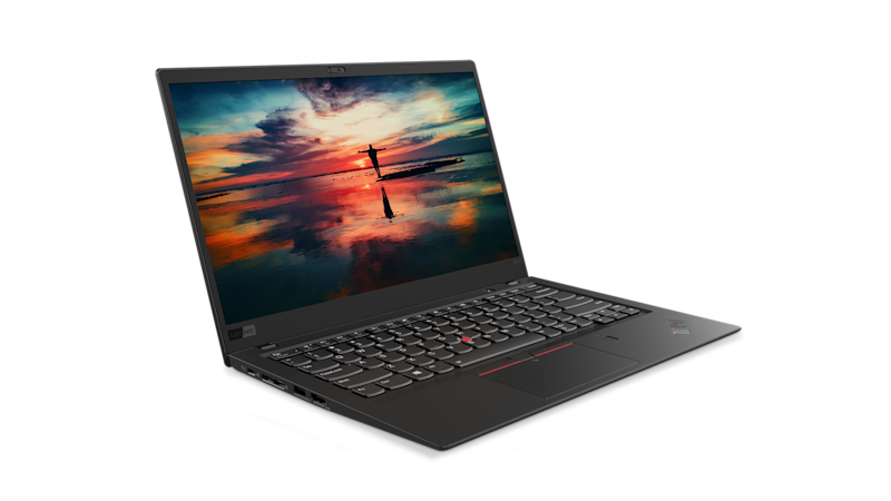 Lenovo's ThinkPad X1 Carbon, also shown at CES 2018, has an HDR screen