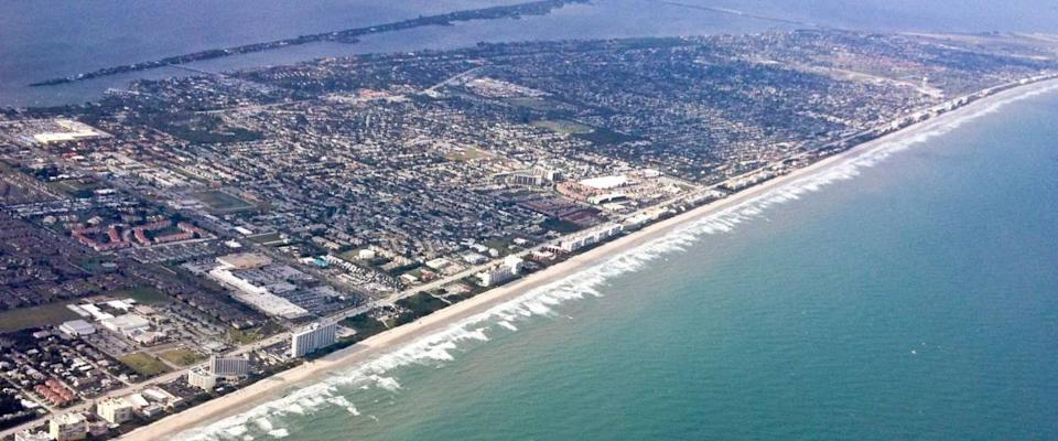 Aerial of Melbourne Beach Florida