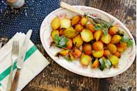 """Gorgeous for those #Whole30 Instagrams, but also packed with flavor. <a href=""""https://www.bonappetit.com/recipe/roasted-golden-beet-salad-with-pea-shoots-and-fennel-fronds?mbid=synd_yahoo_rss"""" rel=""""nofollow noopener"""" target=""""_blank"""" data-ylk=""""slk:See recipe."""" class=""""link rapid-noclick-resp"""">See recipe.</a>"""