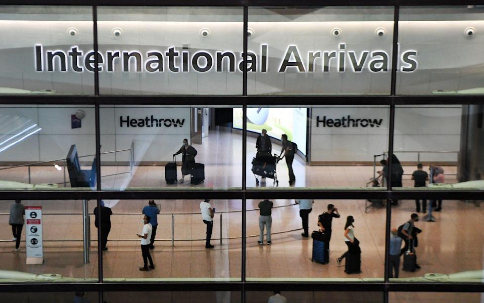"""A committee says the Government's """"inexplicable"""" decision to lift restrictions on about one million people who arrived in the UK contributed to the scale of the outbreak - ANDY RAIN/EPA-EFE/Shutterstock"""