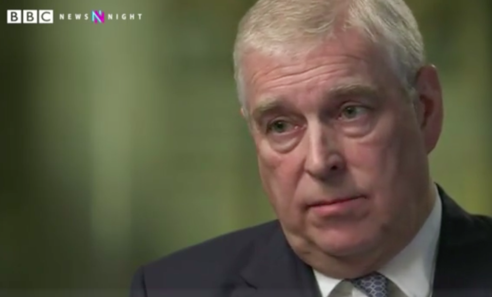 Prince Andrew has been widely criticised for his comments in the interview (Picture: BBC)