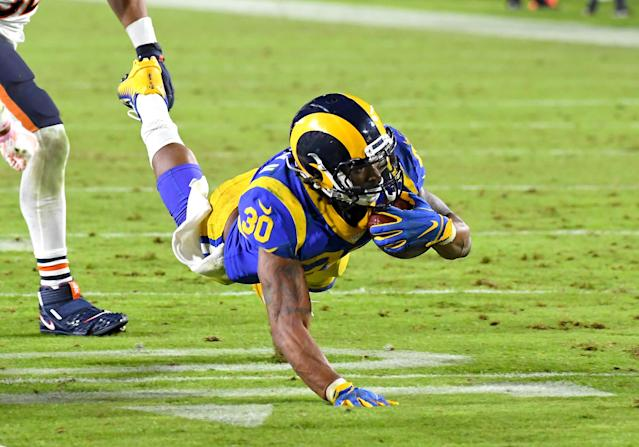 Rams running back Todd Gurley had a big night against the Bears. (Photo by Jayne Kamin-Oncea/Getty Images)