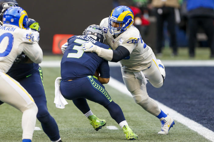 Aaron Donald on facing Seahawks in playoffs: 'That's exactly what we wanted'