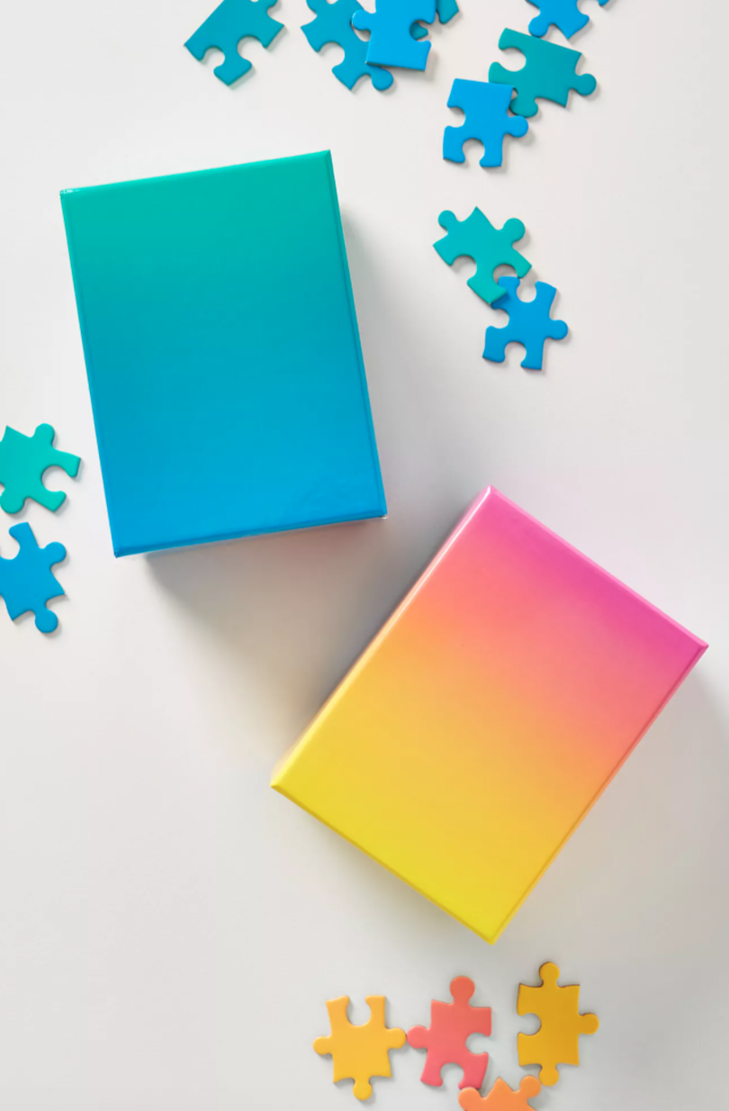 """<h2>Areaware Gradient Puzzle</h2><br><strong>Best For: Best Friend With Kids<br>Budget: $15</strong><br>And for the best friend with kids who are looking to unwind after a long day, send over this soothing gradient puzzle that can be done alone or with the whole family and makes a vibrant work of art when completed.<br><br><em>Shop <a href=""""https://www.anthropologie.com/all-gifts"""" rel=""""nofollow noopener"""" target=""""_blank"""" data-ylk=""""slk:Anthropologie"""" class=""""link rapid-noclick-resp""""><strong>Anthropologie</strong></a></em><br><br><strong>Areaware</strong> Gradient Puzzle, $, available at <a href=""""https://go.skimresources.com/?id=30283X879131&url=https%3A%2F%2Fwww.anthropologie.com%2Fshop%2Fgradient-puzzle2%3Fcategory%3Dall-gifts%26color%3D066%26type%3DSTANDARD%26size%3DS%26quantity%3D1"""" rel=""""nofollow noopener"""" target=""""_blank"""" data-ylk=""""slk:Anthropologie"""" class=""""link rapid-noclick-resp"""">Anthropologie</a>"""