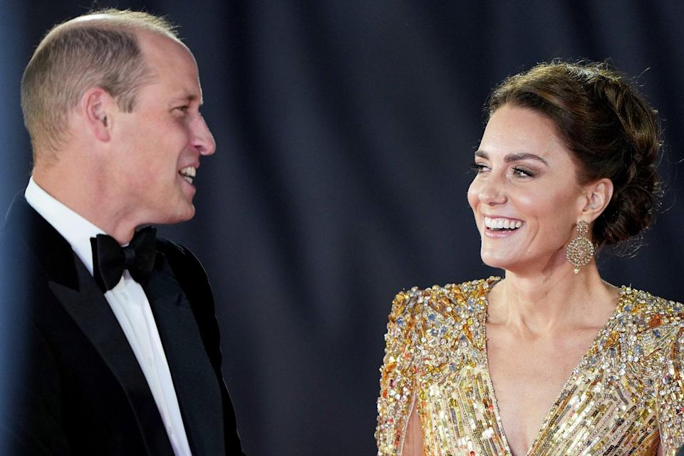 Prince William and Catherine Duchess of Cambridge 'No Time To Die' World Premiere, Royal Albert Hall, London, UK - 28 Sep 2021