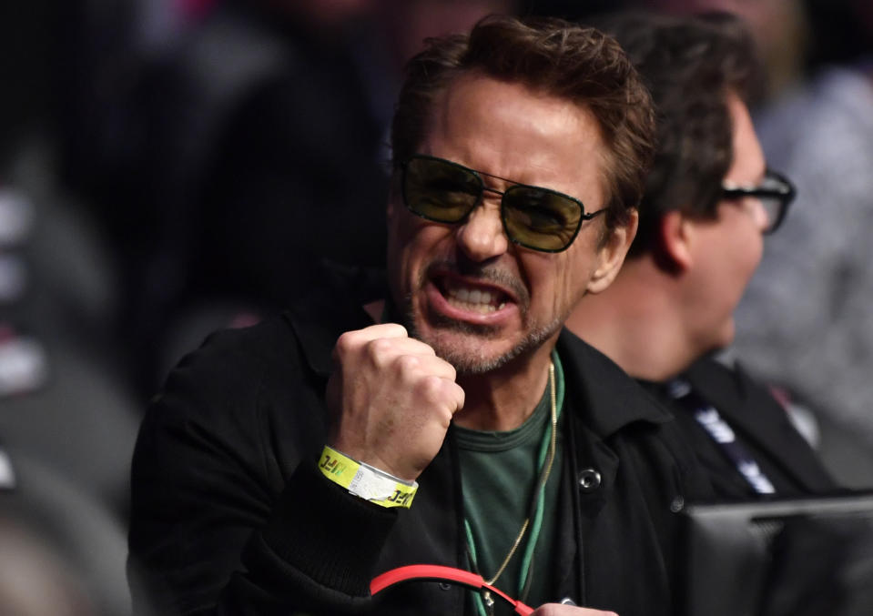 LAS VEGAS, NEVADA - MARCH 07:  Actor Robert Downey Jr. is seen in attendance during the UFC 248 event at T-Mobile Arena on March 07, 2020 in Las Vegas, Nevada. (Photo by Jeff Bottari/Zuffa LLC)