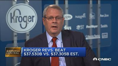 Michael Schlotman, Kroger Company CFO, reacts to the company's most recent earnings report.