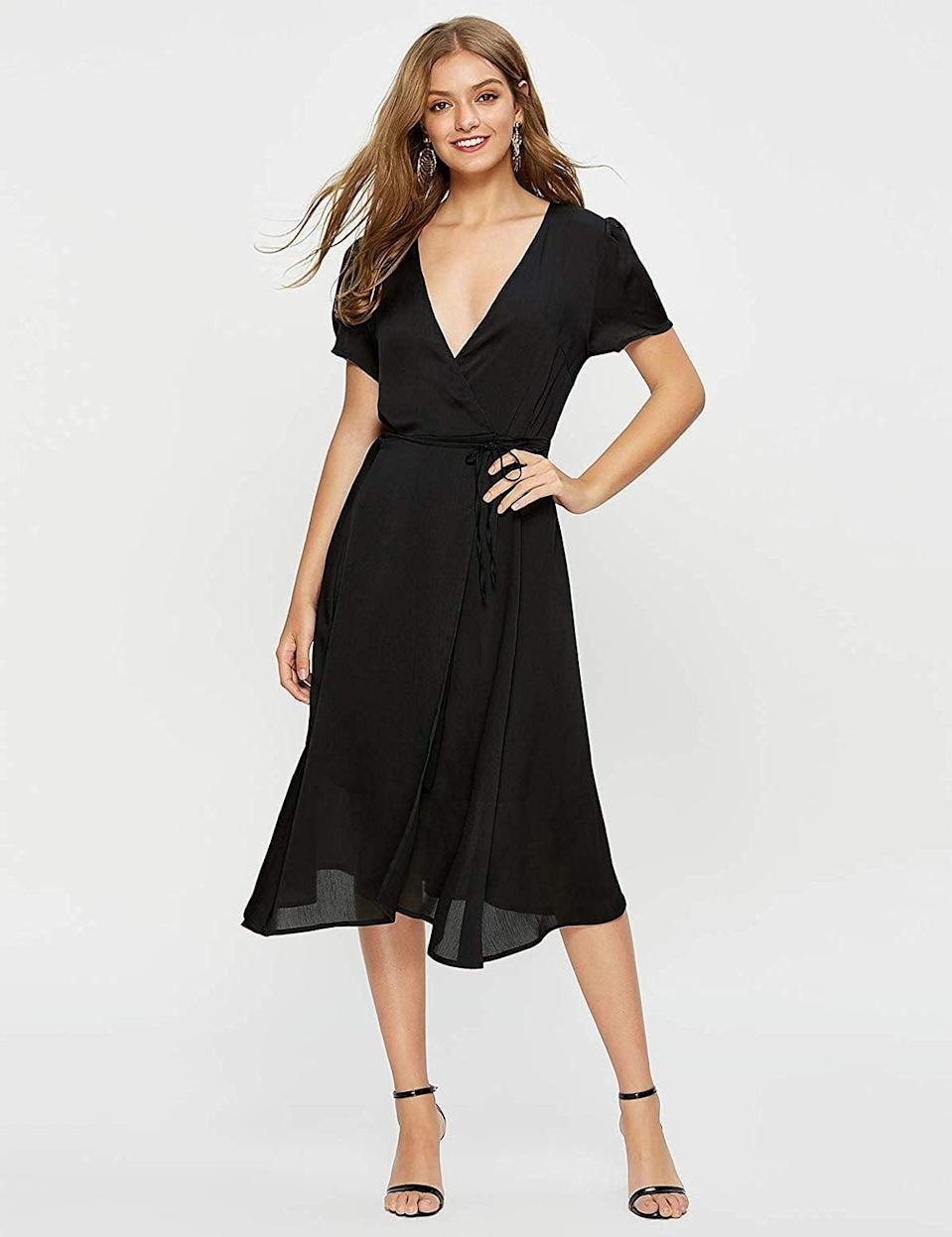 <p>Customers can't say enough good things about this <span>Escalier Wrap Dress </span> ($29).</p>
