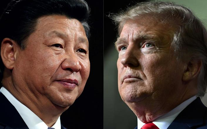 Xi Jinping, the president of China, and Donald Trump, the US president. - AFP