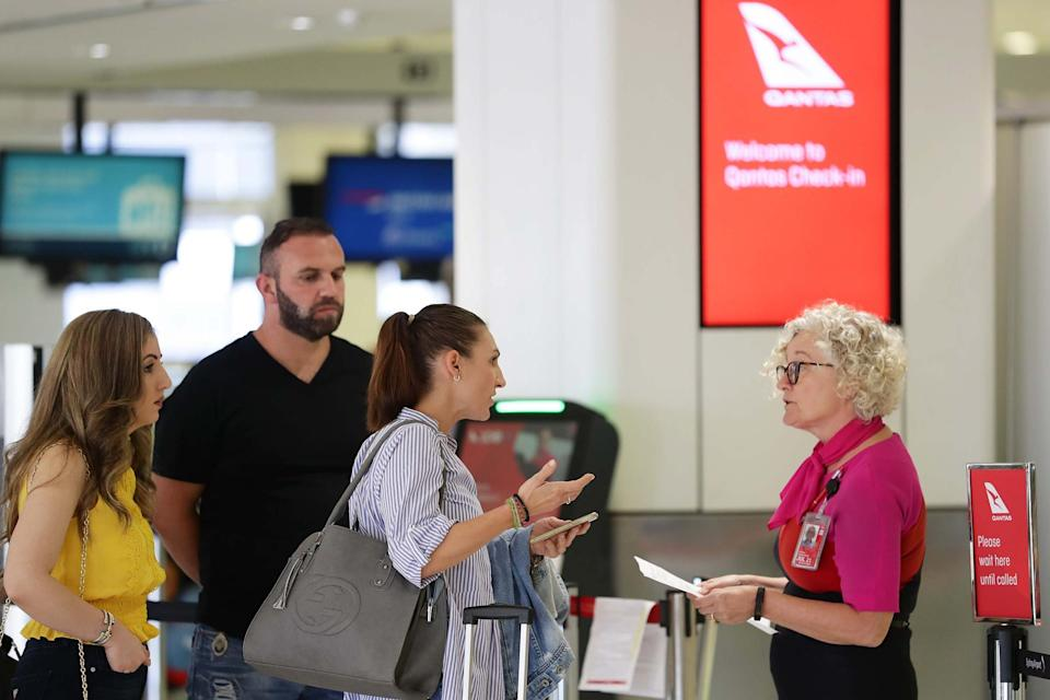 The check in area at Sydney International Airport (Getty Images)