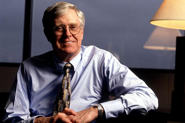 "<b>5. Charles G. Koch, 76</b> <br>Company: Koch Industries <br>Net worth: $24.7 billion <br>Compensation: N/A <br><br>Charles G. Koch has been the chairman and CEO of Koch Industries — one of the largest privately owned companies in the U.S. — since 1967. The group's annual revenue is more than $100 billion, according to Forbes. <br><br>Koch Industries was co-founded by Charles's father Fred C. Koch and classmate Lewis E. Winkler in 1925 as Winkler-Koch Engineering. The company developed an innovative cracking method of turning crude oil into gasoline. After the death of Fred Koch in 1967, sons Charles and David Koch, both engineers, took control of the Kansas-based mid-size firm and expanded the Koch empire globally to have a presence in 60 countries with interests in energy, textiles, petrochemicals and pulp and paper. Koch Industries is considered among the world's top independent oil traders by turnover. <br><br>Charles Koch's stake in the group is estimated to be at least $22.4 billion, according to Wealth-X. Other big assets include his homes in Aspen, Colorado and Indian Wells, California, which are estimated to be worth $7 million and $5 million respectively. <br><br>The Koch brothers are known for their activism on conservative causes. The duo has been pumping millions of dollars into libertarian groups and political campaigns of right-wing politicians and candidates since the 1960s. In 2011, the brothers were named among the <a href=""https://ec.yimg.com/ec?url=http%3a%2f%2fwww.time.com%2ftime%2fspecials%2fpackages%2farticle%2f0%2c28804%2c2066367_2066369_2066324%2c00.html%26quot%3b%26gt%3b100&t=1490619364&sig=co2ttMZOaWaBE7gUVuKZkg--~C most influential people</a> in the world by Time Magazine, largely due to their financial support for Tea Party causes."