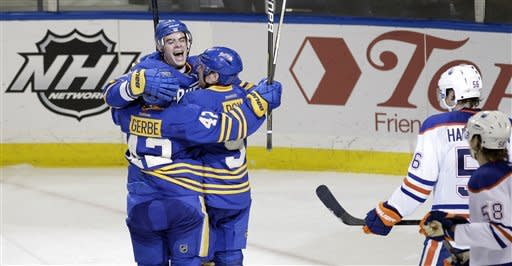 Stafford, Gerbe lift Sabres to 4-3 win over Oilers