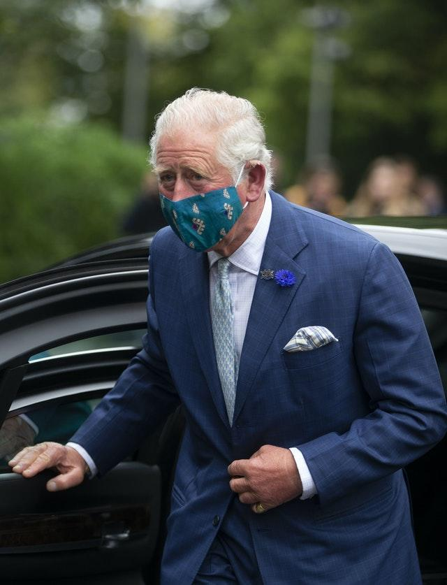 The Prince of Wales pictured wearing a face mask for the first time when he visited Northern Ireland recently contracted Covid-19. Ian Vogler/Daily Mirror