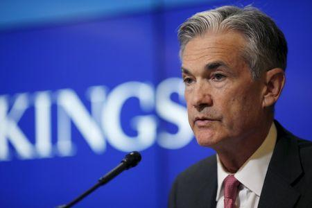 Federal Reserve Governor Jerome Powell delivers remarks during a conference at the Brookings Institution in Washington August 3, 2015. REUTERS/Carlos Barria