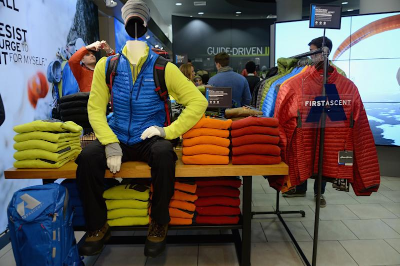 A general view of atmosphere at the Eddie Bauer NYC Store Opening in New York City.