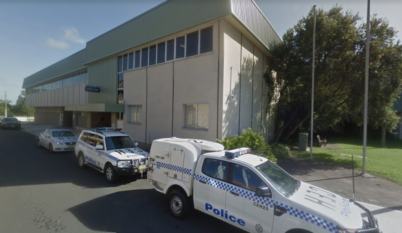 Maitland Police station is pictured.