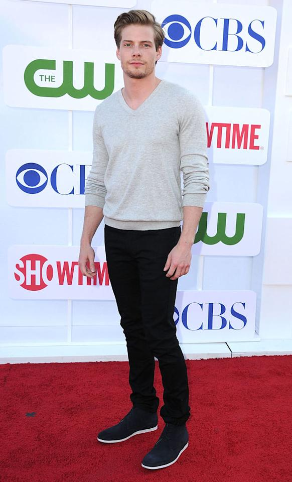 "Hunter Parrish (""Weeds"") arrives at the CBS, Showtime, and The CW Summer 2012 Press Tour Party on July 29, 2012 in Beverly Hills, California."