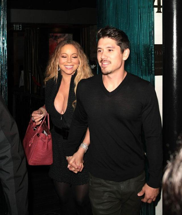 Mariah Carey and Brian Tanaka pictured on a dinner date in Beverly Hills on June 3. (Photo: Splash News)