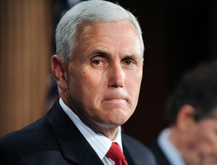 "Pence has long been <a href=""http://www.indystar.com/story/news/politics/2016/01/04/what-we-know-gov-mike-pences-position-gay-rights/78257192/"" rel=""nofollow noopener"" target=""_blank"" data-ylk=""slk:an outspoken opponent"" class=""link rapid-noclick-resp"">an outspoken opponent</a> of marriage equality, and in floor speeches during his time in Congress, described marriage as being &ldquo;<a href=""http://www.thenewcivilrightsmovement.com/mike-pence-marriage-was-ordained-by-god-instituted-among-men/discrimination/2010/01/29/7473"" rel=""nofollow noopener"" target=""_blank"" data-ylk=""slk:ordained by God"" class=""link rapid-noclick-resp"">ordained by God</a>.&rdquo; <br><br>Of the <a href=""http://www.huffingtonpost.com/2015/06/26/supreme-court-gay-marriage_n_7470036.html"" rel=""nofollow noopener"" target=""_blank"" data-ylk=""slk:Supreme Court&rsquo;s 2015 ruling"" class=""link rapid-noclick-resp"">Supreme Court&rsquo;s 2015 ruling</a> that granted same-sex couples the right to tie the knot nationwide, he <a href=""http://www.bustle.com/articles/172623-mike-pences-anti-lgbtq-stances-make-him-dangerous-to-the-community"" rel=""nofollow noopener"" target=""_blank"" data-ylk=""slk:reportedly said"" class=""link rapid-noclick-resp"">reportedly said </a>that&nbsp;he said he was disappointed that SCOTUS had &ldquo;failed to recognize the historic role of the states in setting marriage policy,&rdquo; but nonetheless noted that he believed &ldquo;in the rule of law.&rdquo;"