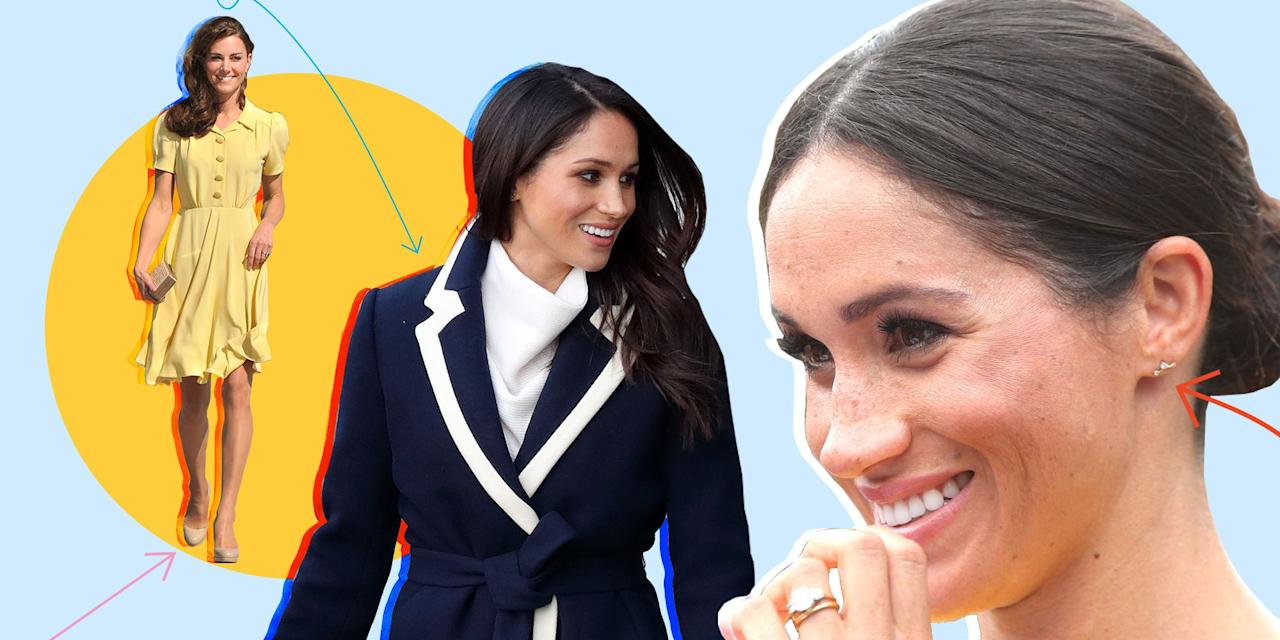<p>Meghan Markle and Kate Middleton both have quite extensive wardrobes with all the royal events and outings they have to attend, but even royals have their favorite pieces and designers that they turn to time and time again. Here, 30 of Meghan and Kate's favorite fashion brands. </p>