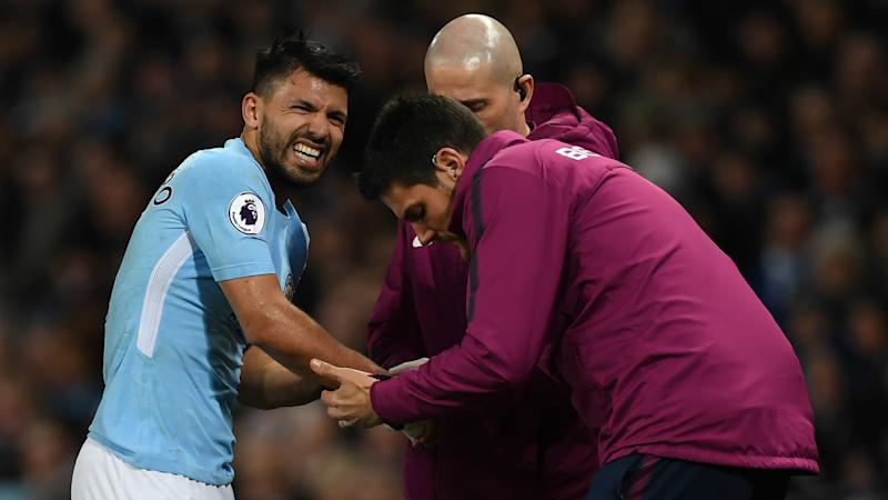 Aguero out of Stoke game after training ground injury