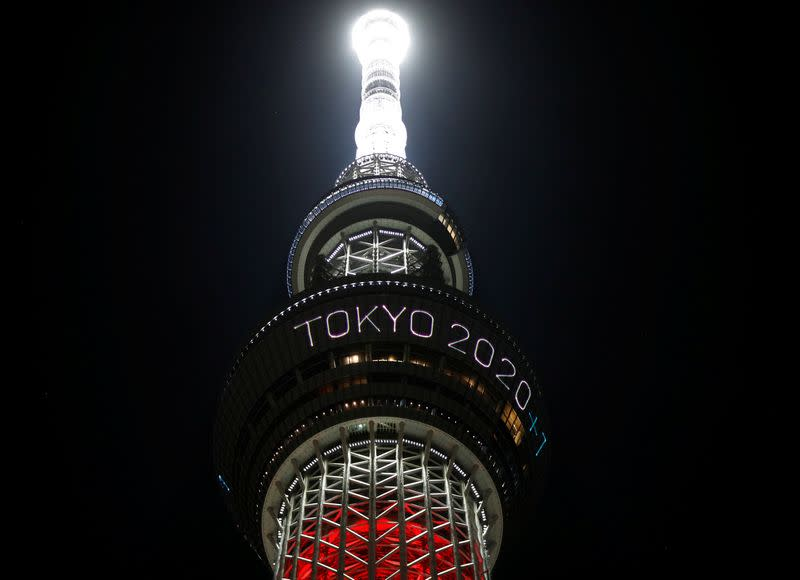 Paralympics: Tokyo Skytree lights up to commemorate year until rearranged Paralympics