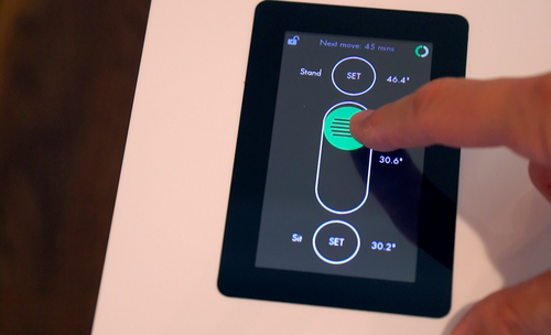 Stir desk touchscreen