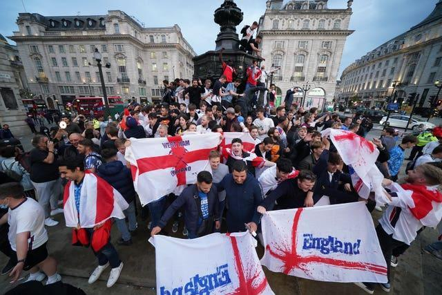 England's win sparked celebrations across the country