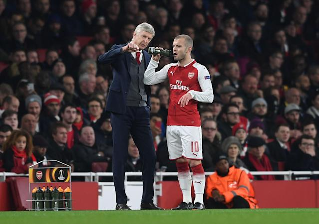 Arsene Wenger mentored Jack Wilshere when the midfielder broke into the Arsenal team as a teenager. (Getty)