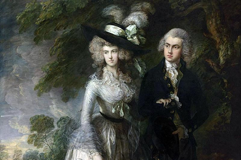'Slashed': Mr and Mrs William Hallett ('The Morning Walk') by Thomas Gainsborough: PA