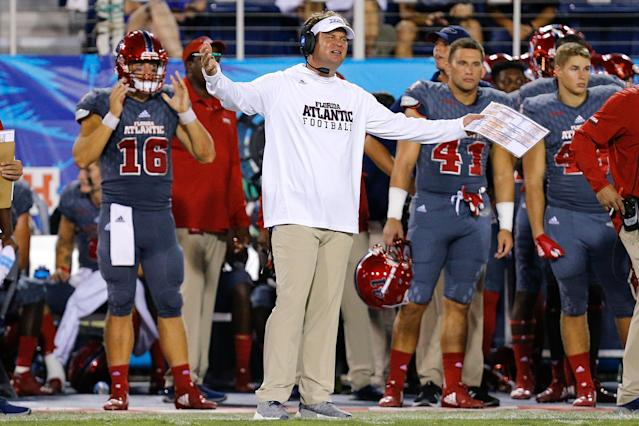 Can Lane Kiffin and Florida Atlantic bounce back after a disappointing 2018 season? (Photo by Michael Reaves/Getty Images)
