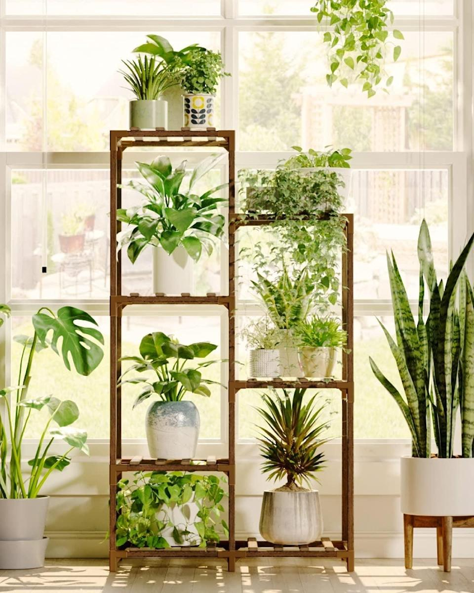 <p>Make use of verticle space in your home with this <span>6-Tiered Plant Stand Rack </span> ($30). Although it's meant for plants, you can use it as a storage shelve for whatever you need. It fits around seven potted plants. </p>
