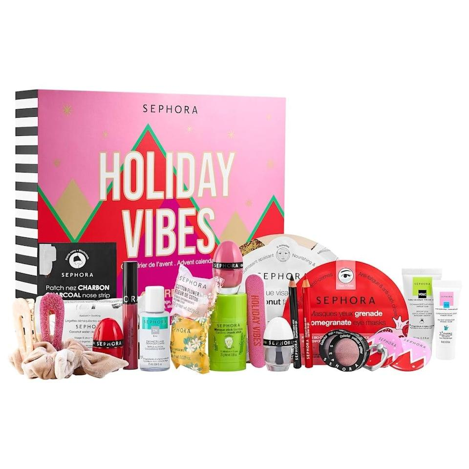 <p>'Tis the season of advent calendars, and we are ready! This <span>Sephora Collection Holiday Vibes Advent Calendar</span> ($45) has so many good products inside, it'll be a fun surprise every single day.</p>