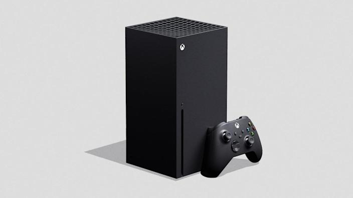 Images of Microsoft's upcoming Xbox Series X gaming console.