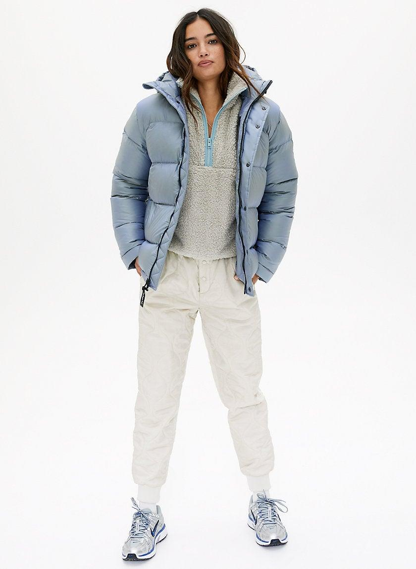 """<strong><h3><a href=""""http://aritzia.com"""" rel=""""nofollow noopener"""" target=""""_blank"""" data-ylk=""""slk:Aritzia Puffer"""" class=""""link rapid-noclick-resp"""">Aritzia Puffer</a></h3></strong><a href=""""https://www.instagram.com/emmachilds4/https://www.instagram.com/emmachilds4/"""" rel=""""nofollow noopener"""" target=""""_blank"""" data-ylk=""""slk:Emma Childs, 21"""" class=""""link rapid-noclick-resp""""><strong>Emma Childs, 21</strong></a><br>The current status of my jacket collection is absolutely abysmal. I've been layering with sweaters and a light jacket lately and that just is not cutting it anymore, so I've been on the hunt for some proper outerwear. And at long last, I've found her: <a href=""""https://www.aritzia.com/us/en/product/the-super-puff%E2%84%A2/74360001.html"""" rel=""""nofollow noopener"""" target=""""_blank"""" data-ylk=""""slk:The Aritzia Superpuff"""" class=""""link rapid-noclick-resp"""">The Aritzia Superpuff</a> in Iridescent Glacier. This puffer is engineered to keep the wearer warm and toasty, and its subtle shine is the perfect element to add some edge to any outfit. Also, Hunter Schafer has this jacket and as soon as I saw it on them, I knew I had to grab it as well. The price is a bit out of my normal """"I can rationalize this…"""" zone so my best bet is to wait a few weeks and then pounce on it for Aritzia's Black Friday/Cyber Monday sale! I put an alarm in my phone for first thing Friday morning. I'll be ready for the sweet, sweet deals. <br><br><strong>TNA</strong> The Super Puff, $, available at <a href=""""https://www.aritzia.com/us/en/product/the-super-puff%E2%84%A2/74360001.html"""" rel=""""nofollow noopener"""" target=""""_blank"""" data-ylk=""""slk:Aritzia"""" class=""""link rapid-noclick-resp"""">Aritzia</a>"""
