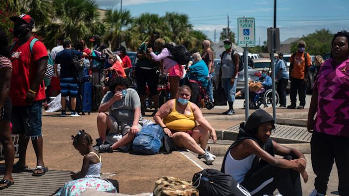 Residents of Galveston, Texas, are among the hundreds of thousands being asked to flee ahead of the incoming storm