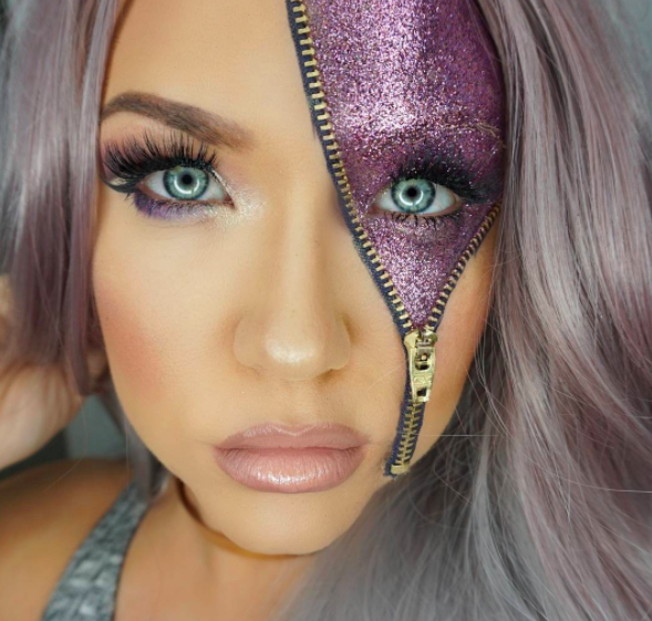 """<p>Yes, <a rel=""""nofollow"""" href=""""https://uk.style.yahoo.com/glitter-zip-halloween-beauty-trend-slideshow-wp-124612106/photo-p-knew-glitter-laden-zip-photo-124612740.html"""">glitter zip make-up</a> was the trend we didn't see coming this year. With beauty junkies taking to Instagram to debut their creations ahead of Halloween, our social media feeds gave way to countless creations from sci-fi-themed looks to masterpieces fit for fancy dress. <em>[Photo: Instagram]</em> </p>"""